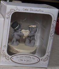 ME TO YOU CUTE BRIDE & GROOM HOLDING A HEART WEDDING CAKE TOPPER BNIB