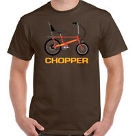 Chopper T-Shirt Raleigh Bicycle Cyclist Bike Cycle Mens Retro  70's 80's Top Tee