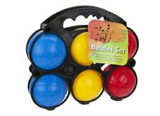 6 Boules + Jack Set In Plastic Carry Case With Hang Bag Outdoor Team Game Set