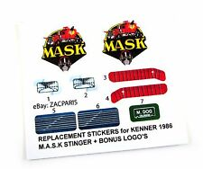 MASK stickers for KENNER M.A.S.K STINGER Personalized + BONUS