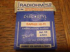 PLATINE VINYL SAPHIR RADIOHM REF 59 A/SRA SOUS CELLO DISCOSTYL