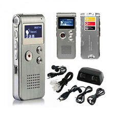 8 GB wiederaufladbare Stahl Digital Sound Voice Recorder Diktiergerät MP3-Player