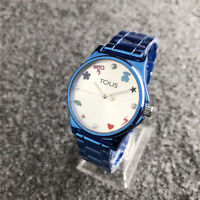 New Women's Dress Stainless steel Inlaid Pearl Wristwatch bear Watch