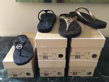 fd0ee277068d6 Michael Kors MK Flip Flop PVC Jet Set Print Rubber Thong Sandal Shoes