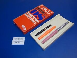 VINTAGE OMAS DS DOPPIO SISTEMA FOUNTAIN PEN WITH ORIGINAL BOX ITALY