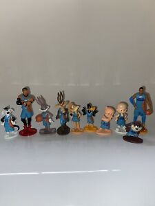 SPACE JAM 2 CAKE TOPPERS 10 PLASTIC FIGURES BRAND NEW UK STOCK