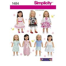 """Simplicity sewing pattern 1484 18""""45.5cm poupées vêtements"""