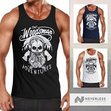 Caballero Tank Top Lumberjack woodsman hipster Bart Skull calavera neverless ®