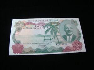 Malawi 1983 20 Kwacha Banknote VF+ Pick #17a