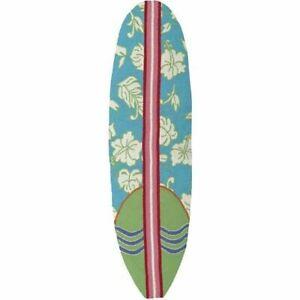 "JellyBean Area Rug ""Surfboard Hawaiian Turquoise"" 20x72!!! Beach Coastal"