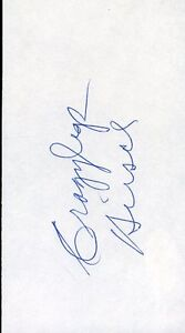 Crazylegs Hirsch Hof Signed Jsa Cert Sticker 3x5 Index Card Authentic Autograph