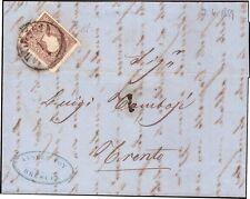 LOMBARDO VENETO 1859 - 10 Soldi n. 26 I TIPO BRESCIA X TRENTO A.DIENA € 500
