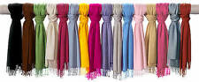 Trendy Highest Quality Scarf Plain 100% Viscose Pashmina Scarves Wrap Stole UK