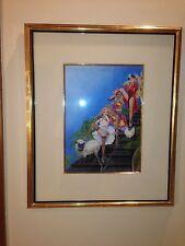 Olivia De Berardinis Super Rare 1977 Original OIL Published LUI 3 Vargas Pinup