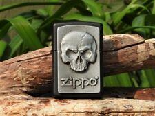 Zippo Lighter - Phantom Skull Emblem - European - Matte Black - Model: 2.003.546