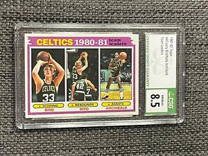 1981-82 Topps Larry Bird Archibald Team Leaders CSG 8.5 NM/Mint & Celtics