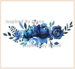 Furniture & Wall clear STICKER / Cut & Stick / Furniture Decal / Flowers 0029