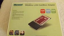 MICRONET WIRELESS LAN CARDBUS ADAPTER IEEE 802.11b/g WIRELESS STANDARD