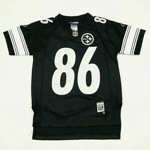 VINTAGE Reebok Hines Ward Pittsburgh Steelers Football Jersey Youth Small S Sewn