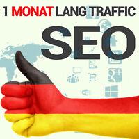 1 Monat SEO mehr als 250 tägliche Website Besucher aus Deutschland HQ Traffic