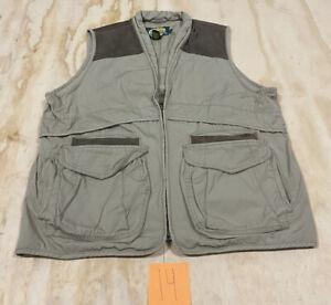 Cabelas Men's Safari Series Vest Hunting Fishing Hiking Photography Size L Gray