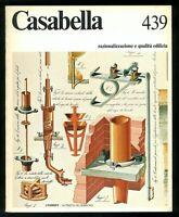 Architettura  Casabella  n. 439 settembre 1978 Direttore Maldonado