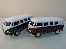 VW CAMPER VAN 70'S STYLE 1/32 DIECAST CAR - MUSIC SOUND LIGHT OPENING DOOR