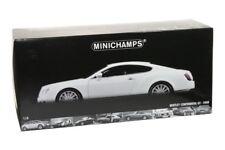 2008 BENTLEY CONTINENTAL GT DIE CAST WHITE 1/18 BY MINICHAMPS 100 139621