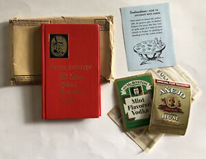 1967 OLD MR BOSTON DELUXE OFFICIAL BARTENDER'S GUIDE LEO COTTON MAILER 6 LABELS+