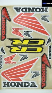 HONDA RETRO LOGO DECAL GRAPHICS STICKERS SHEET KIT CR