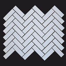 Herringbone White Gloss 30cm X 33cm Wall & Floor Mosaic