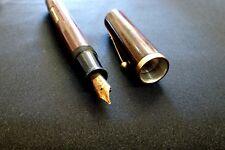 Hudson Pen Co. Fountain Pen Wood Burl Bake-lite 14K gold nib ca.1920 - Vintage