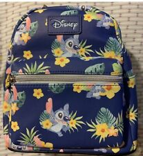 LOUNGEFLY DISNEY LILO AND STITCH FLORAL MINI BACKPACK NEW UK SELLER
