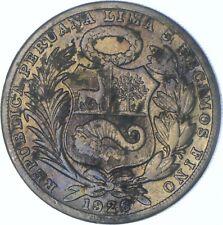 New listing Better Date - 1926 Peru 1 Sol - SILVER *592