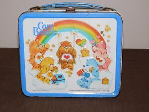VINTAGE 1983 ALADDIN CARE BEARS METAL LUNCH BOX