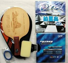 Custom-made Defensive Long-Pips + Pips-in Table Tennis Bat w/Case Melbourne