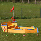 Sandkasten Boot aus Holz mit Geheimversteck Piratenboot Pirat Holzsandkasten