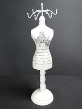 XLarge 36 cm Wooden Lady Mannequin Jewellery Stand Tree Display Necklace Holder