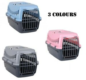 Plastic Portable Pet Carrier Dog Cat Puppy Carry Basket Cage Travel Kennel Vet
