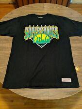 Seattle Supersonics NBA Washington Basketball Black T-shirt Size XL