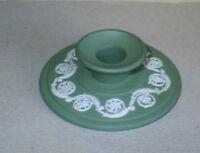 Wedgwood Jasperware Sage Green Candle Holder