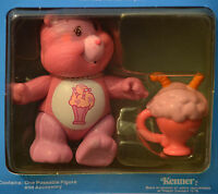 MIP Vintage Poseable CARE BEAR Figure 1985 Kenner SHARE Toy Accessory Complete