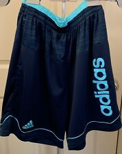 Men's Navy/Teal Adidas Basketball Shorts (L)