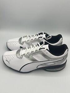 Puma Men's Tazon 6 FM White-Pima Silver-Black 189873 01 Sneaker New