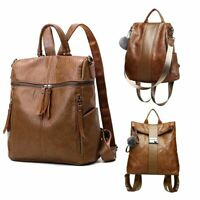 Women's Backpack Waterproof Leather Handbag Lady Girl Shoulder School Travel Bag