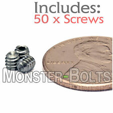"#4-40 x 1/8"" - Qty 50 - 18-8 Stainless Steel SOCKET SET / GRUB SCREWS Cup Point"