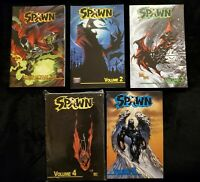 Spawn Collection Vol 1 2 3 4 5 TPB Todd McFarlane OOP Omnibus Lot graphic novel