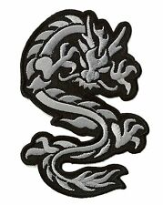 Patch Badge Patch Dragon Grey Medium Badge Badge Embroidered