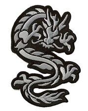 Patch écusson brodé patche Dragon gris medium Ecusson badge