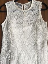 Off White Jesire Lace Dress With Camisole Sleeveless Long Back Zip Fitted